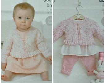 409fc208b Baby Knitting Pattern K5257 Baby Easy Knit Round Neck or
