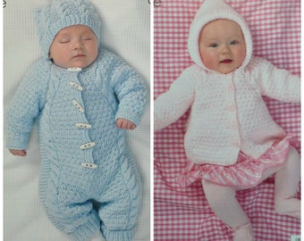 84edb8668 Baby Knitting Pattern K3972 Babies Long Sleeve Double Breasted