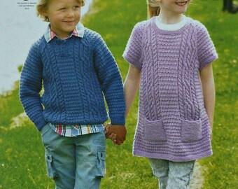 e6dadfb3e Childrens Knitting Pattern K3805 Childrens Long Sleeve Jumper