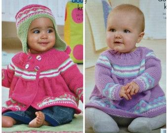 a29f236b3 Baby Knitting Pattern K4428 Babies Long Sleeve Lace Edge