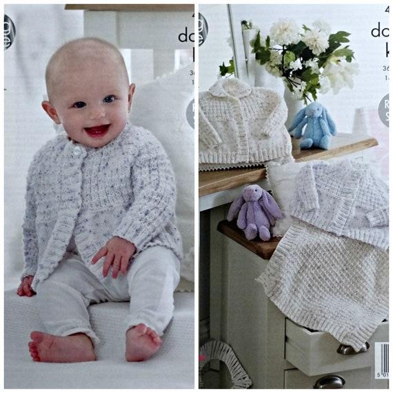 Baby Knitting Pattern K4794 Baby\'s Easy Knit Textured | Etsy