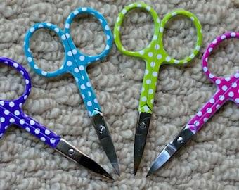 Small Scissors Quirky Spotty mini Scissors