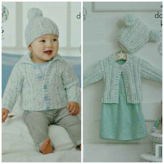 044365598 Baby Knitting Pattern K4320 Baby s Easy Knit Cable Rib