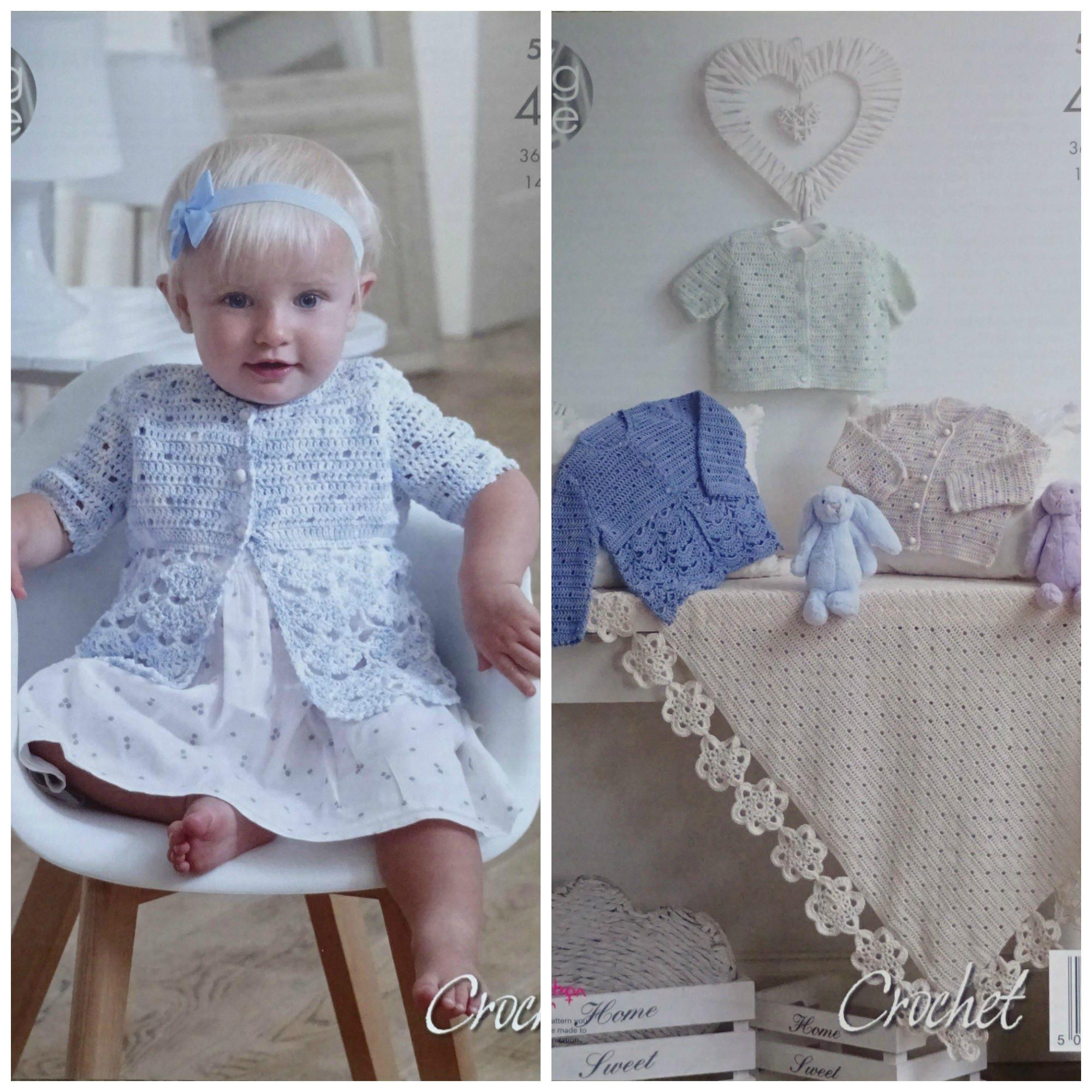 0e8a5e589 Baby Crochet Pattern C5002 Crochet Pattern Babies Matinee Jacket ...