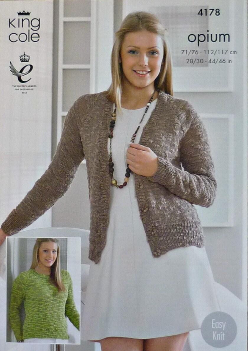 2b378f47a Womens Knitting Pattern K4178 Ladies Girls Easy Knit V-Neck ...