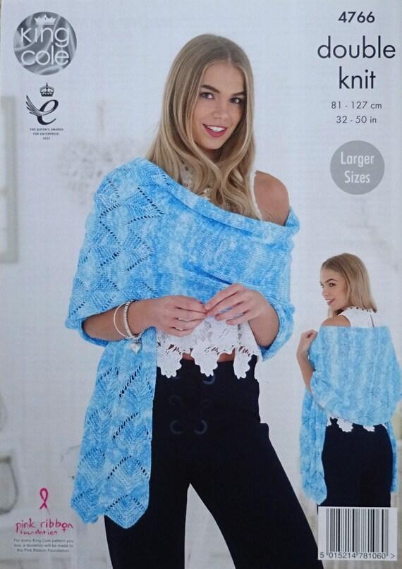 Frauen stricken Muster K4766 Damen Blatt Rand Schal/Wrap   Etsy