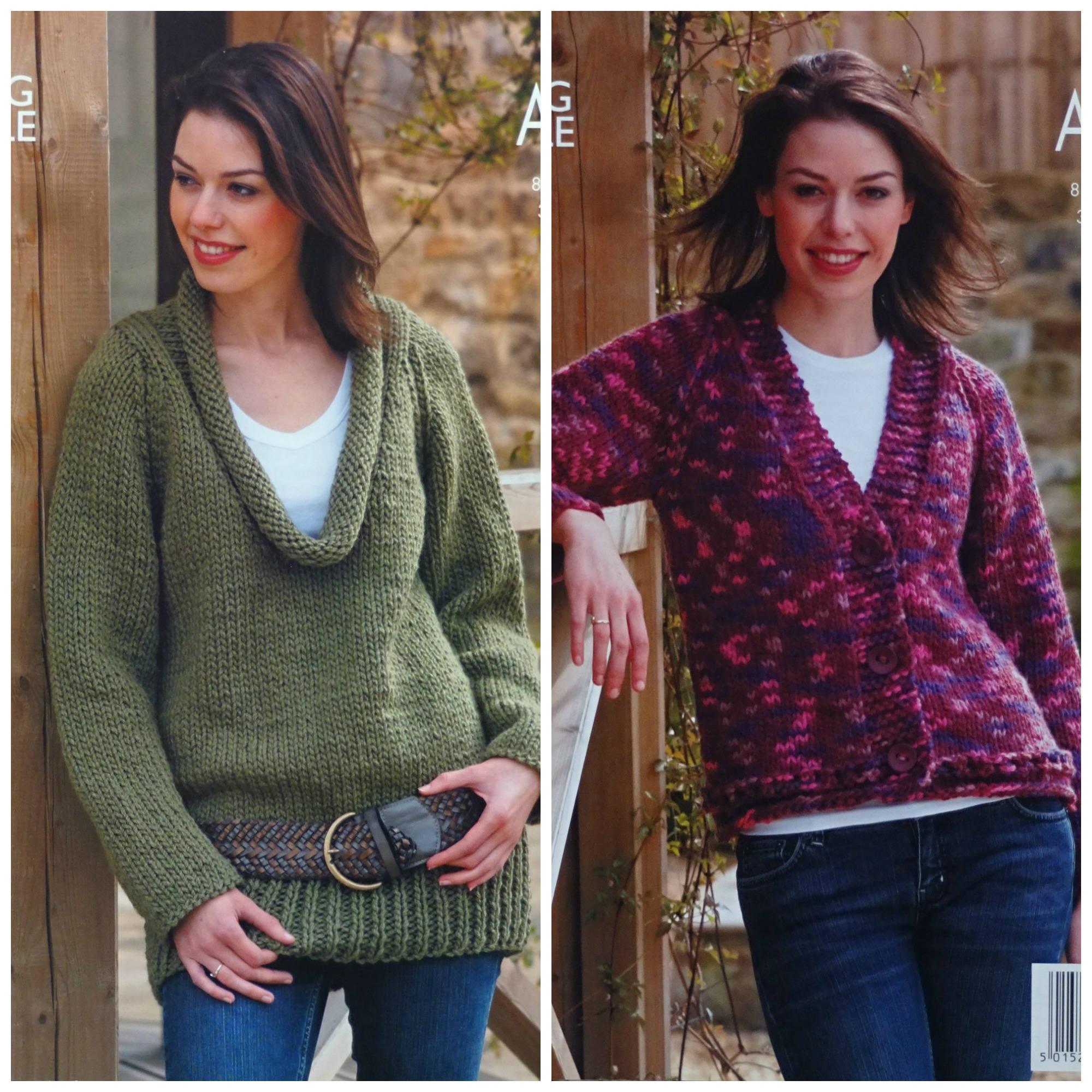 b30dc0f98 Womens Knitting Pattern K2958 Ladies Easy Knit Cardigan and ...