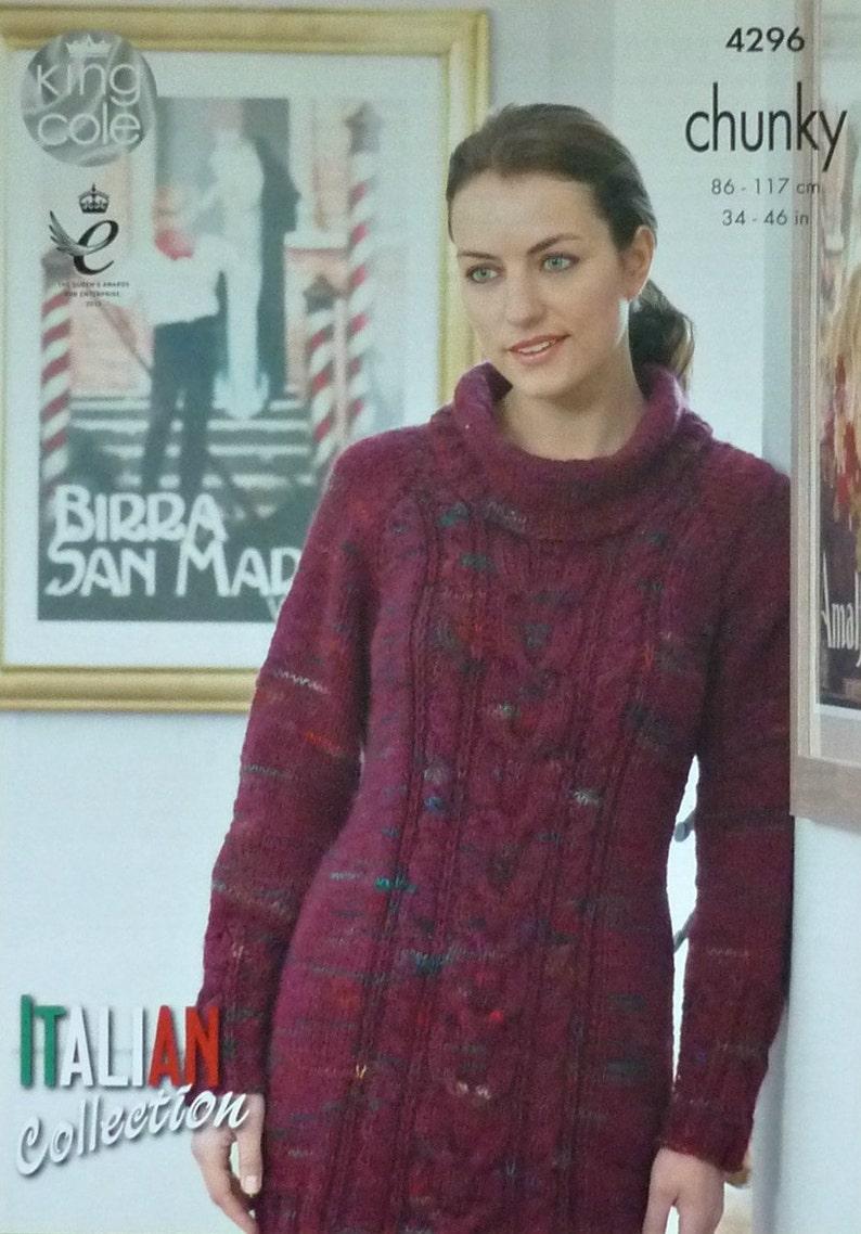 f723dc9d8267 Womens Knitting Pattern K4296 Ladies Long Sleeve Roll Neck