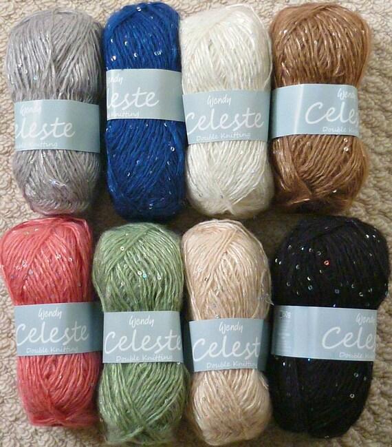 Stricken Wolle/Wendy Celeste Pailletten Mohair/Wolle