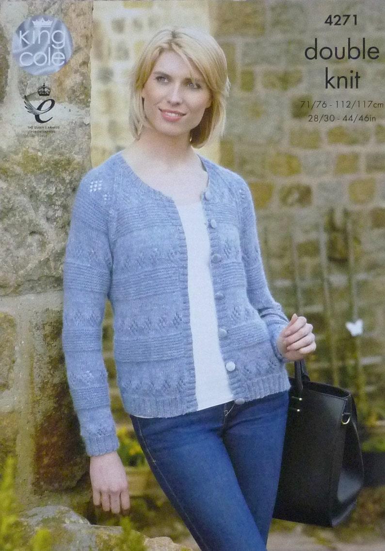 a92c33989562 Womens Knitting Pattern K4271 Ladies Long Sleeve Round Neck