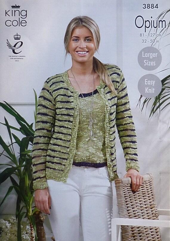 Womens Knitting Pattern K3884 Ladies Long Sleeve Striped Etsy