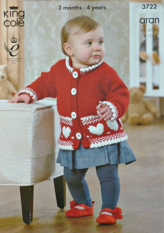 747ec6670 Baby Knitting Pattern K3722 Babies Cardigans and Jumper with