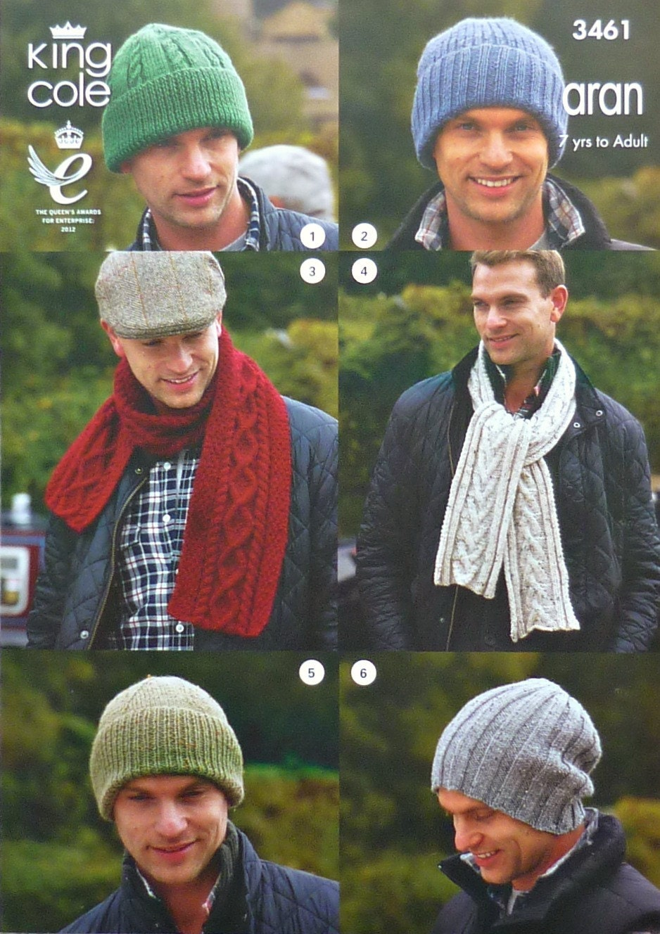 Mens Knitting Pattern K3461 Mens Ladies Childrens Hats And