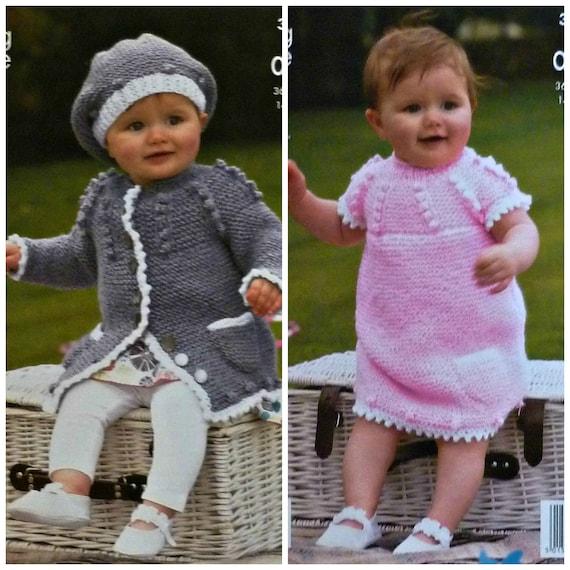 21a26a73a Baby Knitting Pattern K3596 Babies Long Sleeve Coat   Beret
