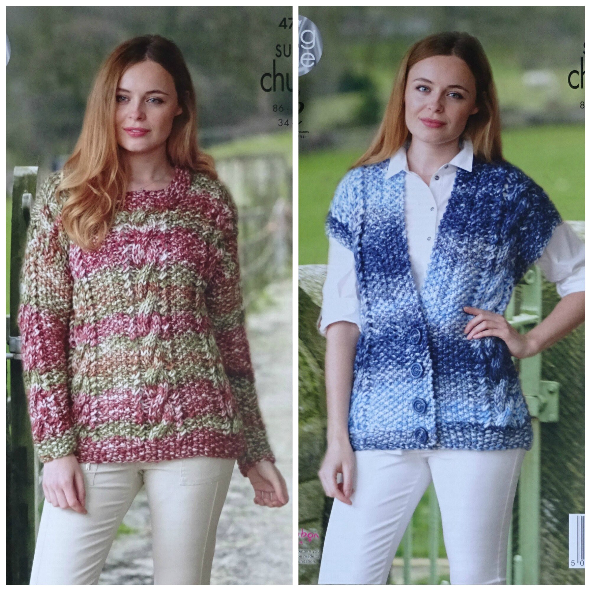 c71535972e6c Womens Knitting Pattern K4754 Ladies Round Neck Cable Jumper ...