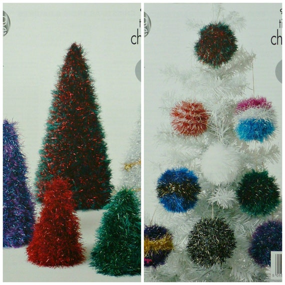 Christmas Knitting Pattern K9035 3 Sizes Tinsel Christmas Tree Etsy