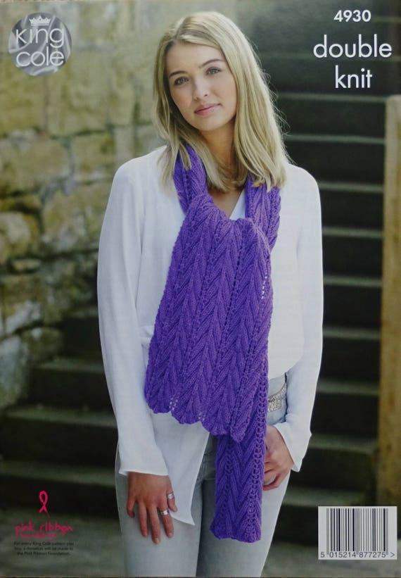Schal stricken Muster K4930 Damen Blatt Rand Schal Lace-Tuch   Etsy