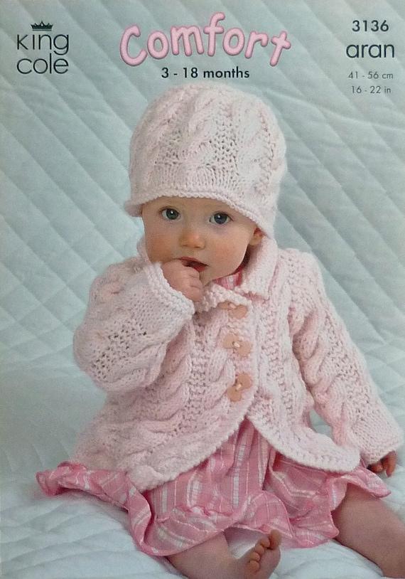Bebé que hace punto K3136 patrón bebés capa puente sombrero