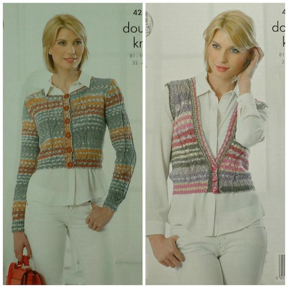 Frauen stricken Muster K4259 Damen Runde Hals kurze   Etsy