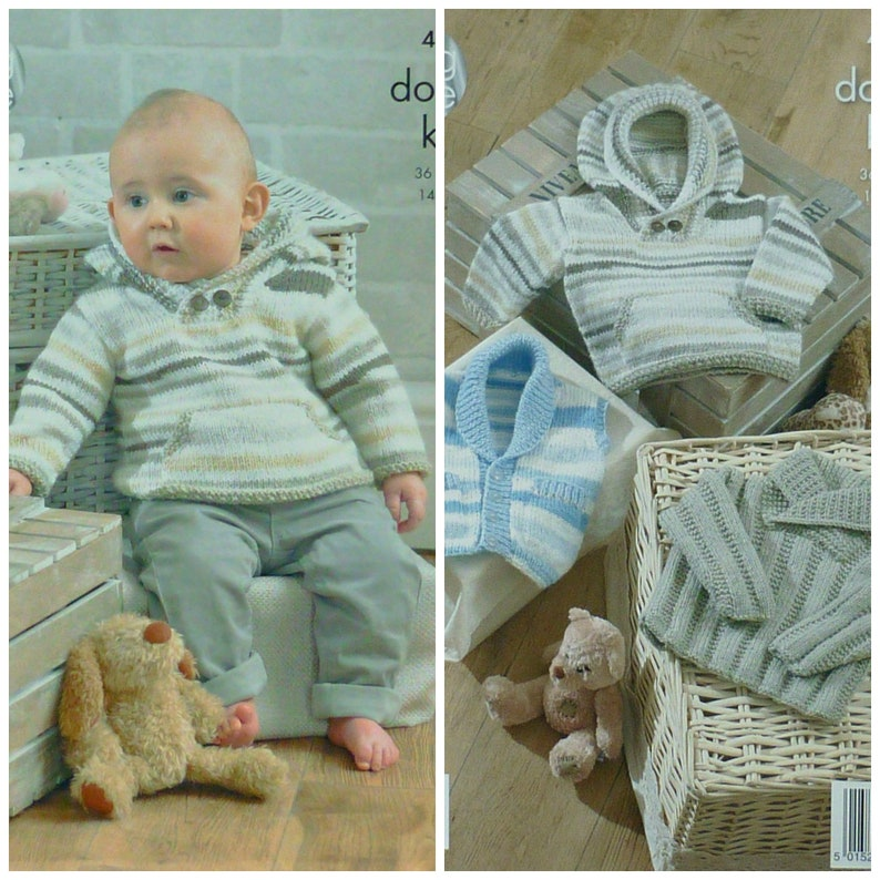 e759b15bdd81 Baby Knitting Pattern K4205 Baby s Jumper Waistcoat and