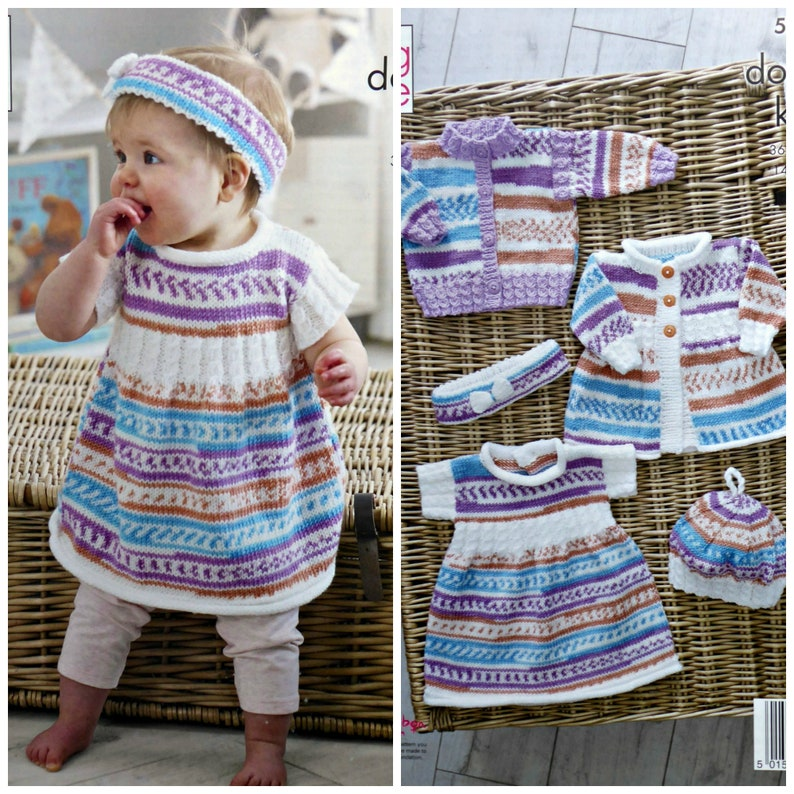 c2d779218555 Baby Knitting Pattern K5219 Baby s Cardigan Coat Dress