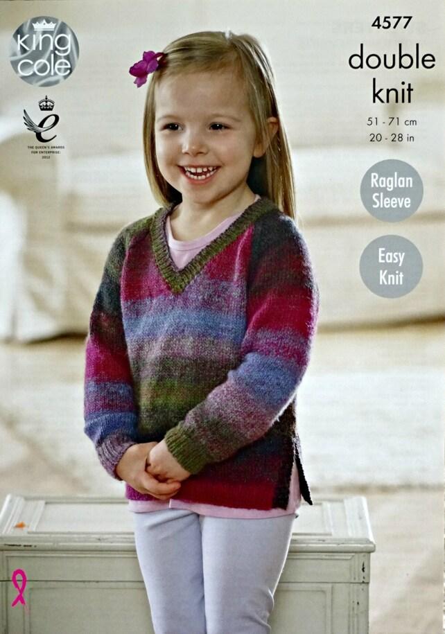 Mädchen Stricken Muster K4577 Mädchen einfach stricken lange | Etsy