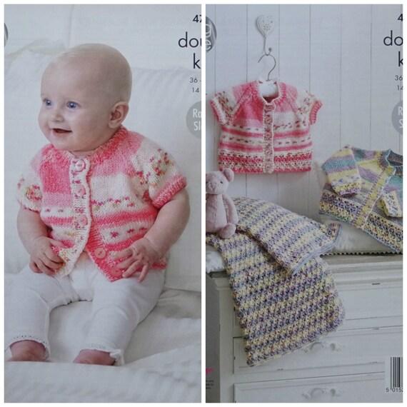 cf8f35027f8d Baby Knitting Pattern K4797 Babies Lace Hem Cardigans   Baby