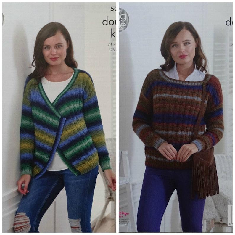 1437b97d0 Womens Knitting Pattern K5007 Ladies Textured Rib Jumper and