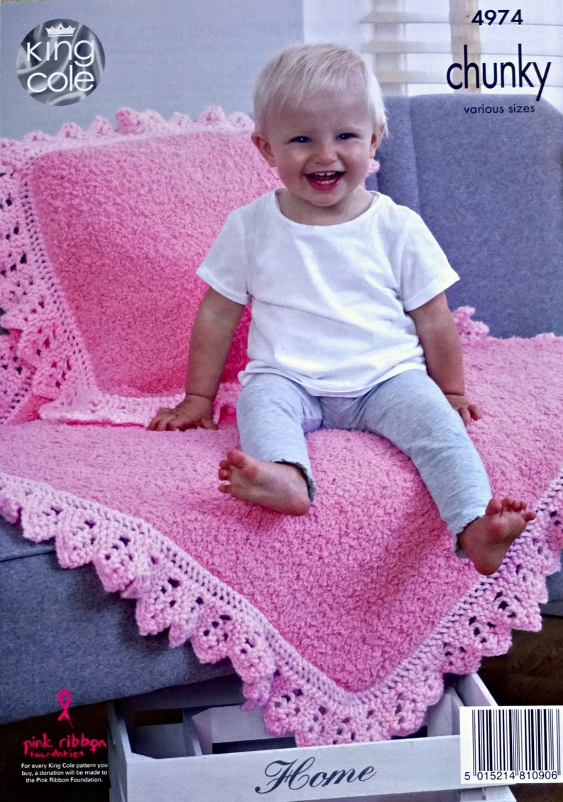 Bulky King Cole Scarf /& Mittens Set Knitting Pattern Chunky Baby Knitting Pattern K4974 Babies Pram and Cot Blankets Cushion and Hat
