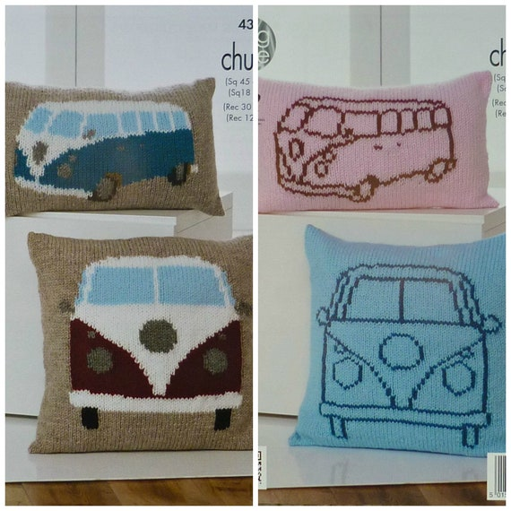 KINGCOLE 4324 Not the finished items Camper Van Cushion Knitting Pattern