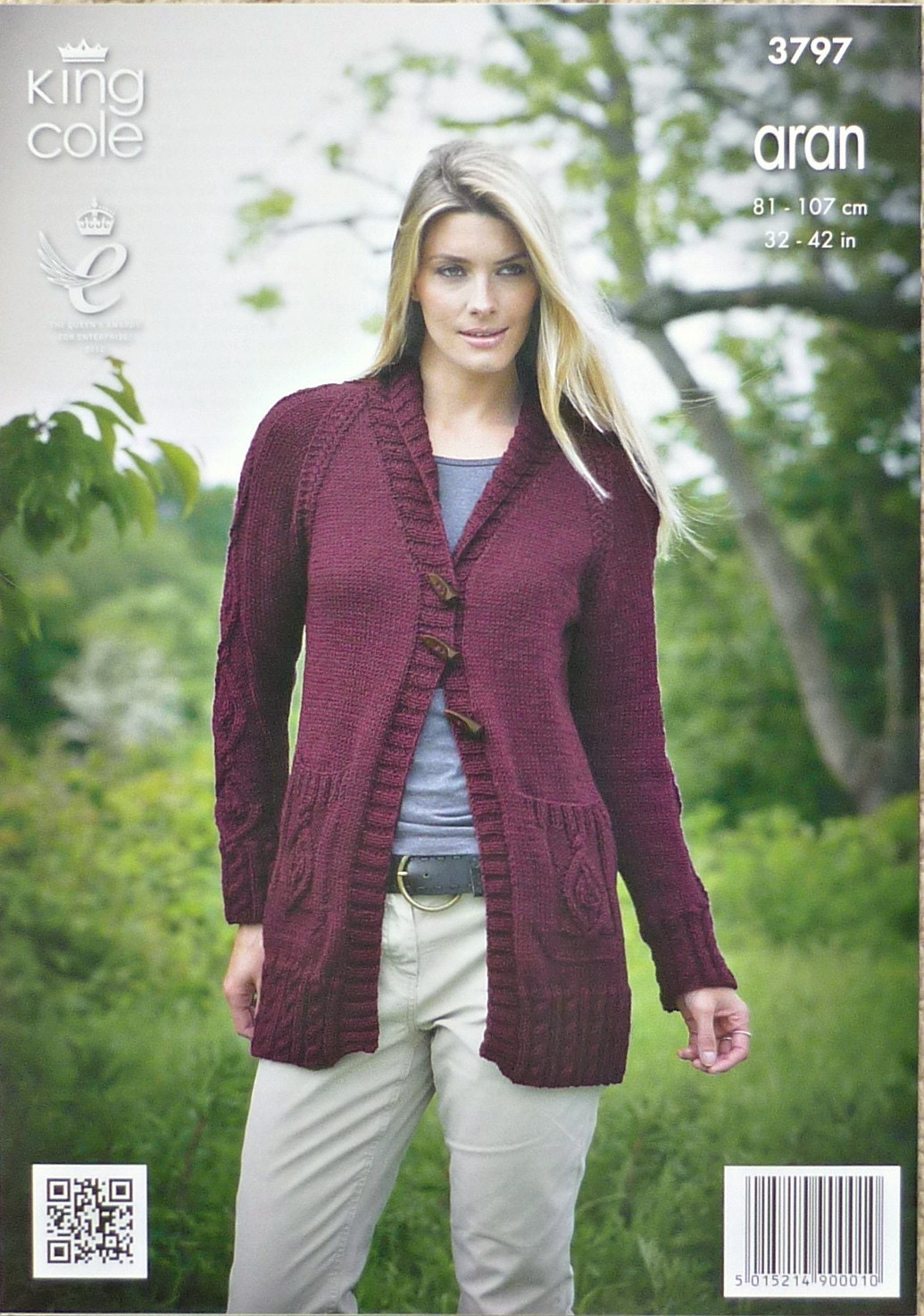 2604bf1dbb7c04 Womens Knitting Pattern K3797 Ladies Revere Collar Long Jacket ...