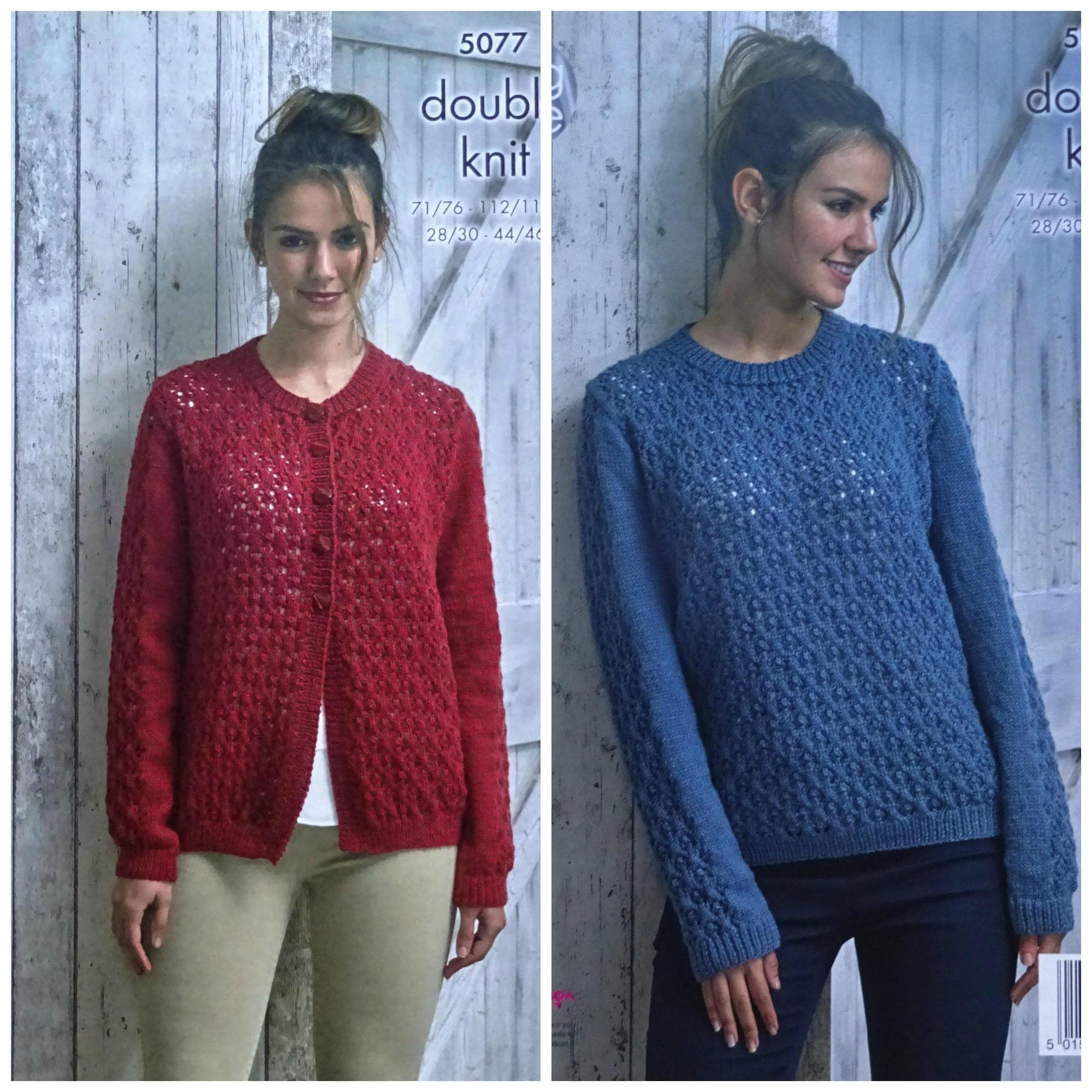 Womens Knitting Pattern K5077 Ladies Long Sleeve Round Neck Lacy ...