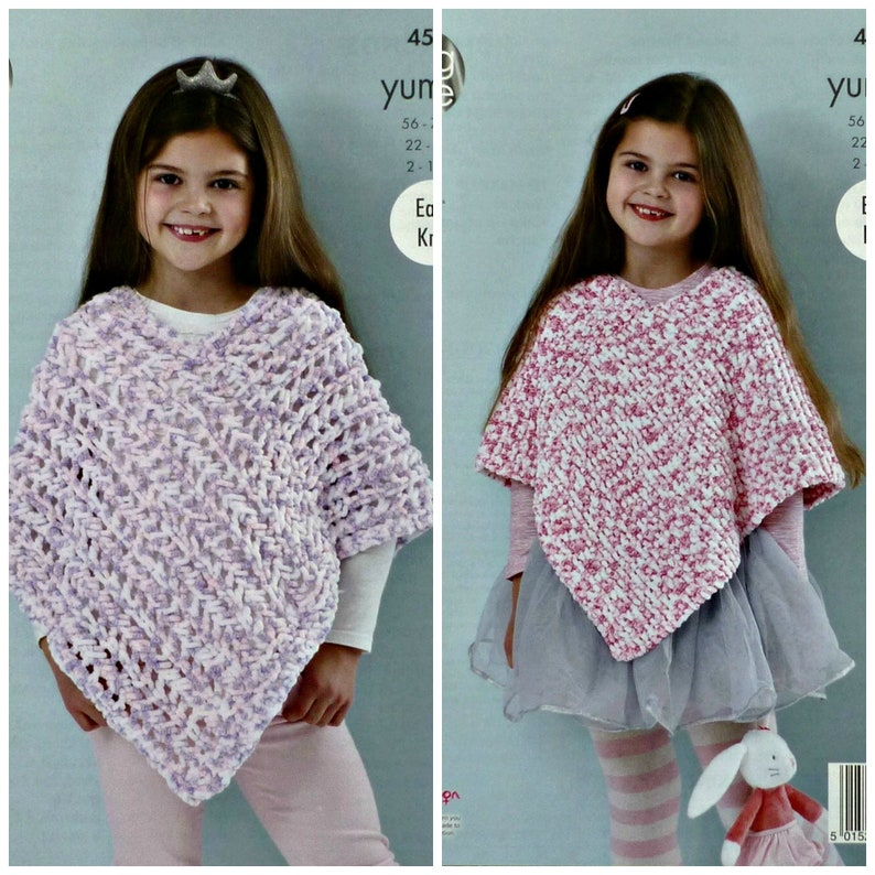 c046338bd8f1 Girls Knitting Pattern K4537 Girls Easy Knit Garter Stitch or