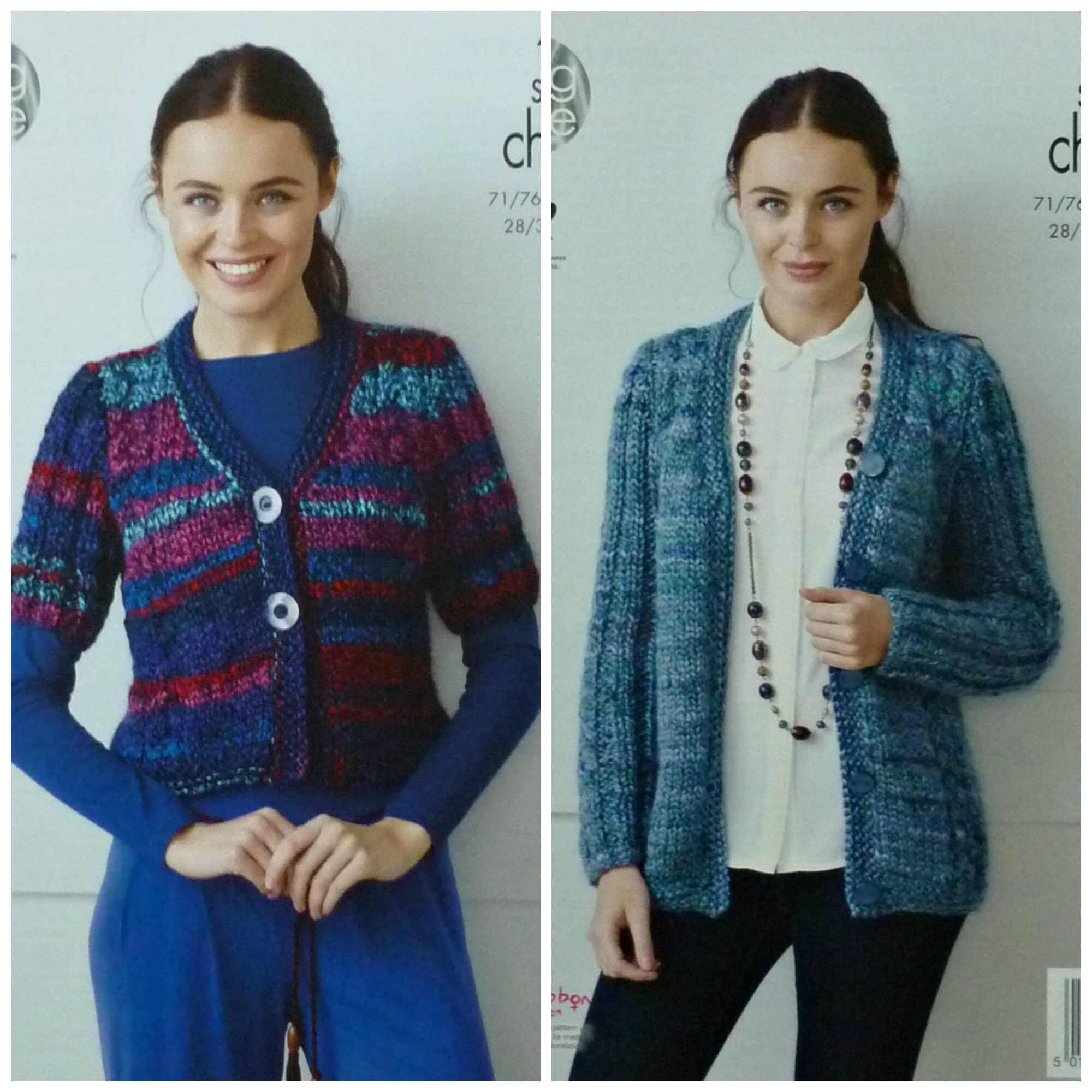 abcea7862 Womens Knitting Pattern K4356 Ladies Long or Short Sleeve V-Neck ...
