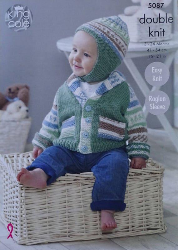 Baby Knitting Pattern K5087 Baby\'s Easy Knit Jacket | Etsy