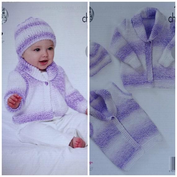 4dc37baa7bc5 Baby Knitting Pattern K4580 Babies Easy Knit Waistcoat