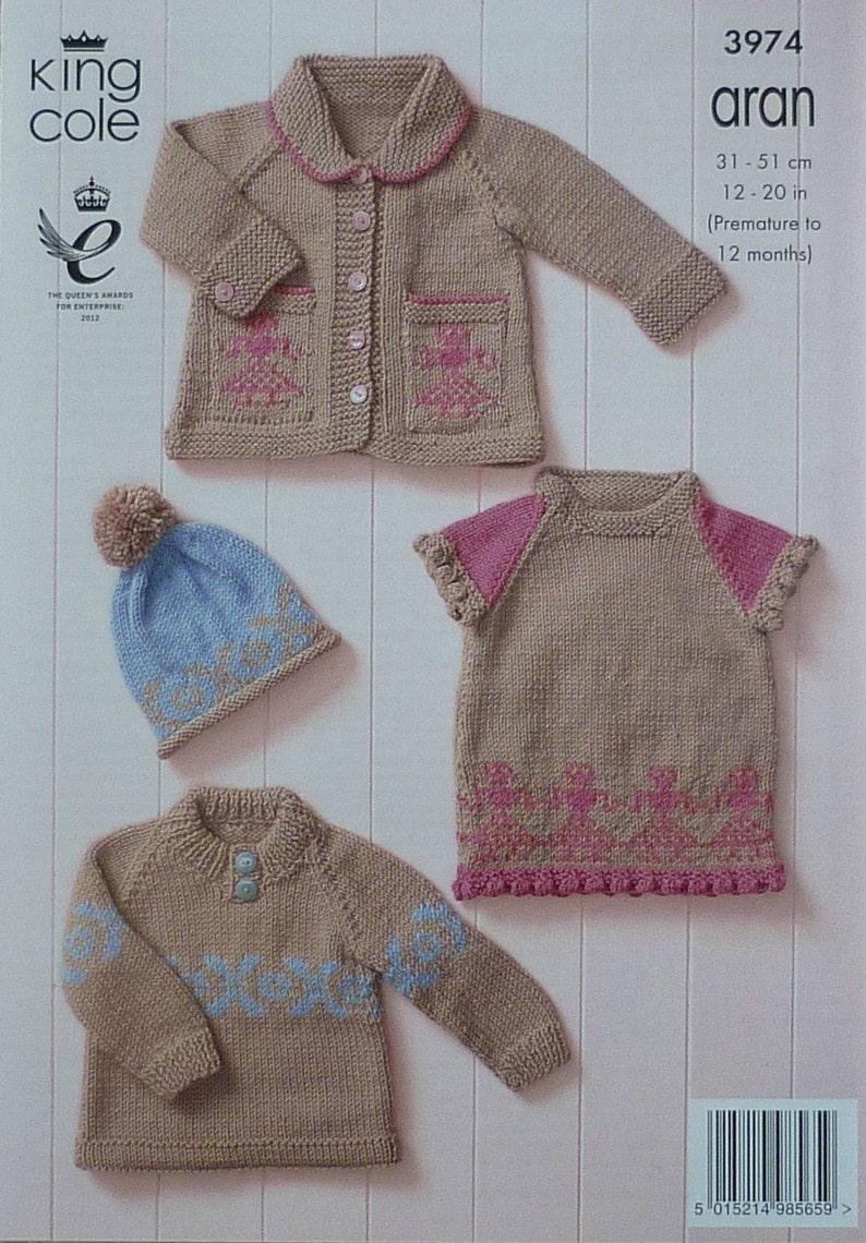 1309ded64 Baby Knitting Pattern K3974 Babies Fairisle Jumper Dress