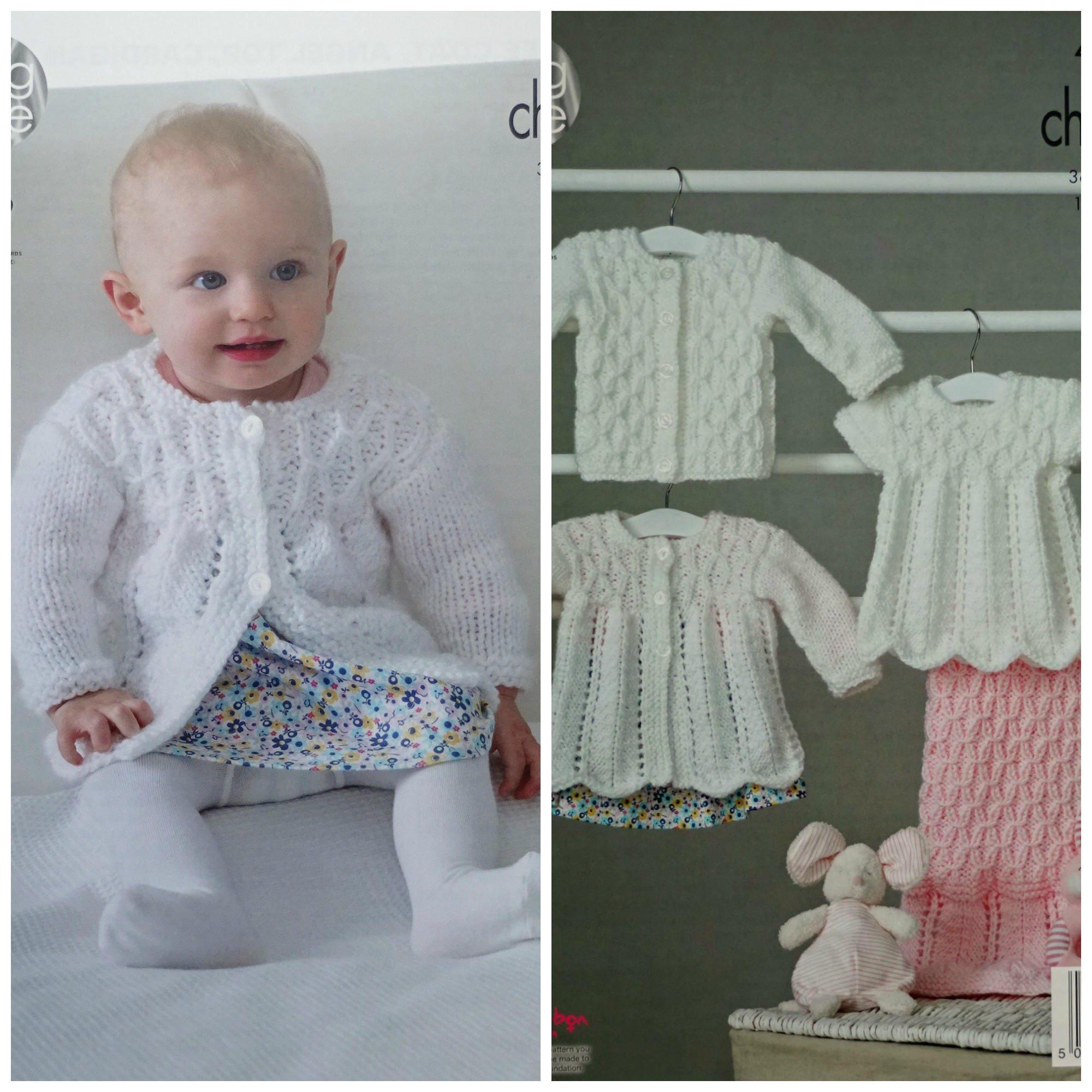 fa36d89b1 Baby Knitting Pattern K4848 Babies Cardigan Blanket Matinee Coat ...