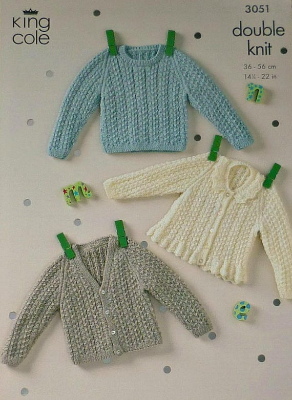 2467d3179 Baby Knitting Pattern K3051 Babies Textured Jumper and