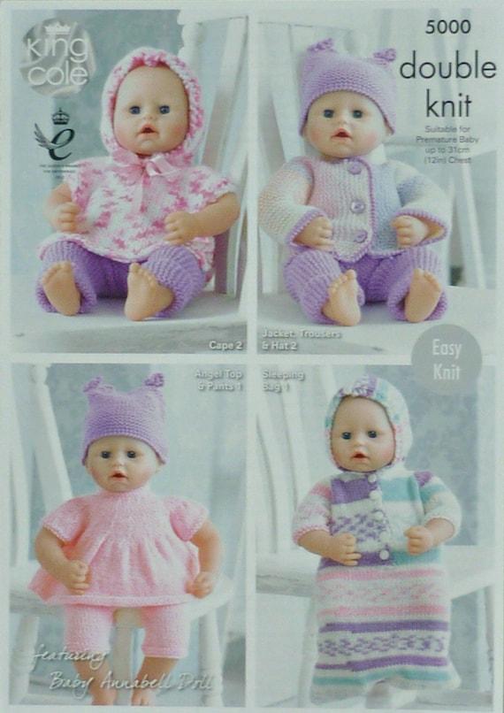 Prem Baby Muster K5000 Prem Baby-Puppen einfach stricken Hut | Etsy