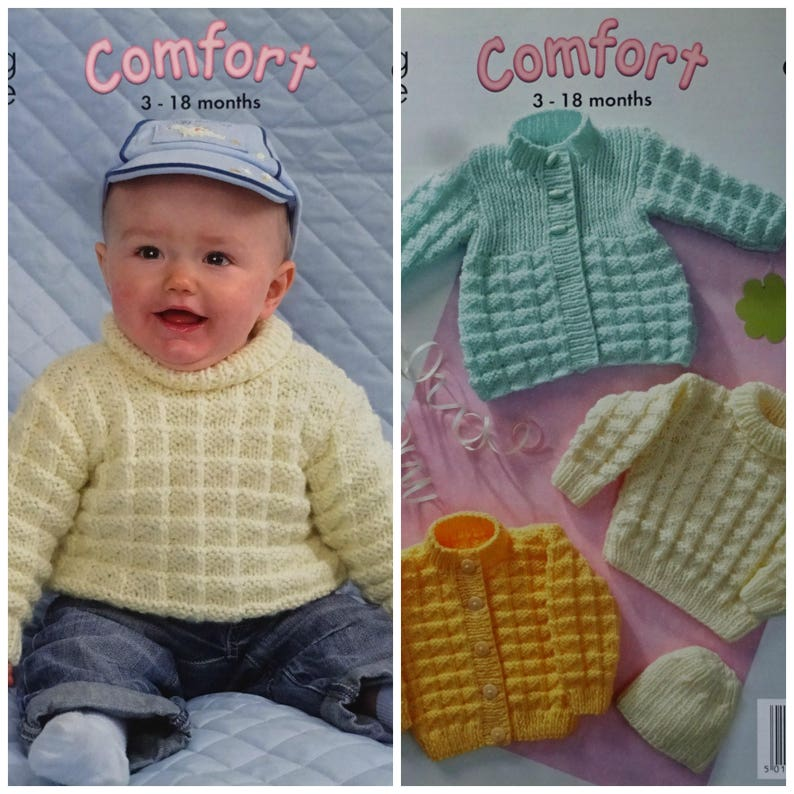 85131668ab00 Baby Knitting Pattern K3135 Babies Jumper Cardigan Coat and