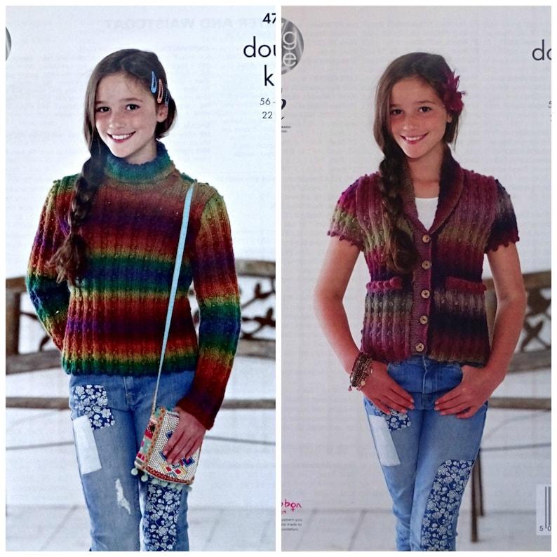 cc2cf0ca89fa Girls Knitting Pattern K4777 Children s Bobble Cardigan