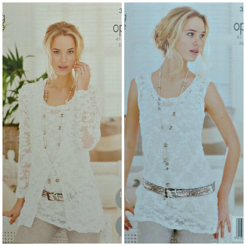 3a9e40cae Womens Knitting Pattern K3689 Ladies Easy Knit Long Sleeve