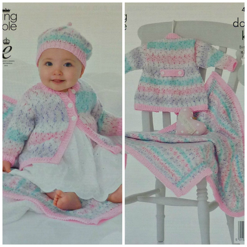 05391f62dfd4 Baby Knitting Pattern K4117 Babies Toddlers Easy Knit Long