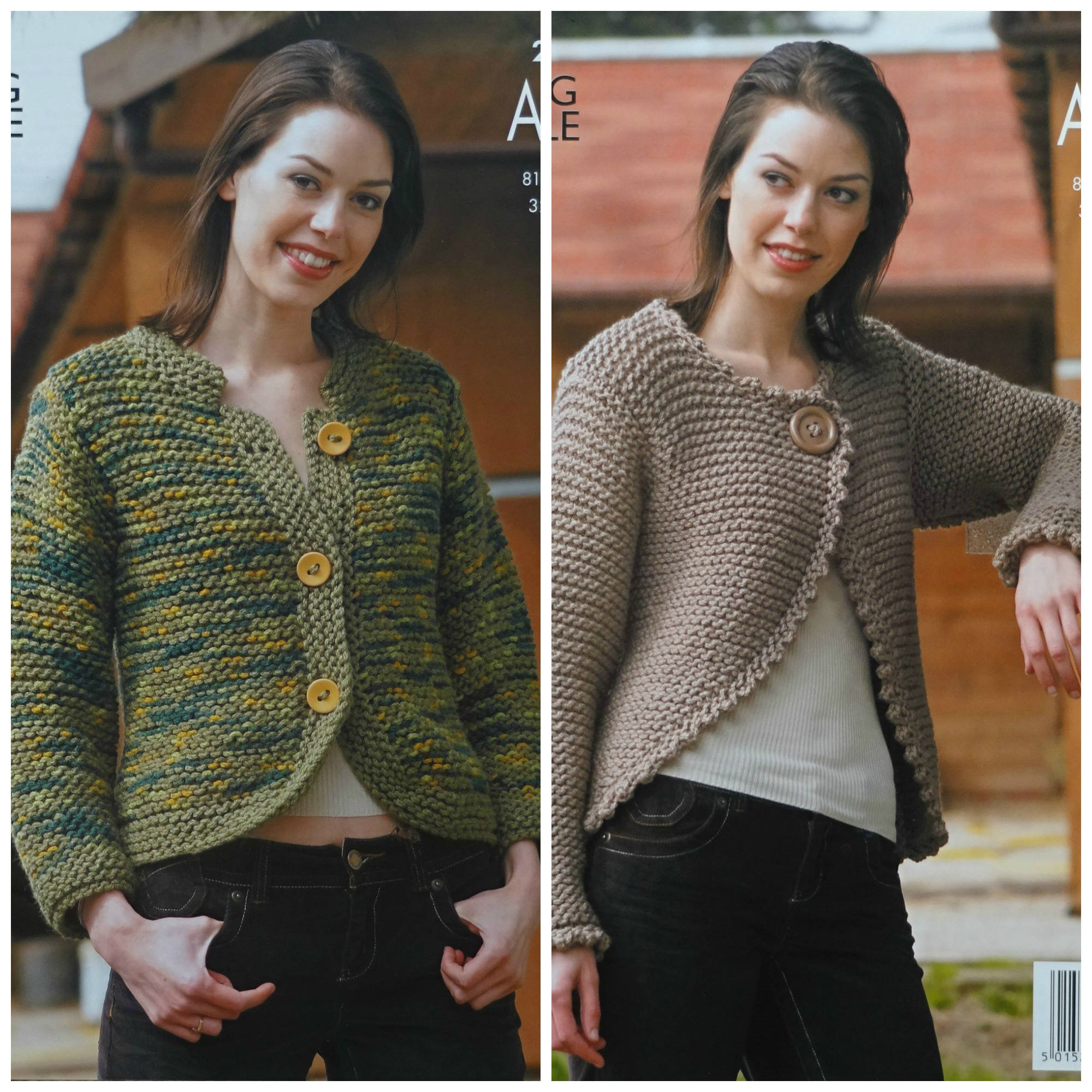 650c82281 Womens Knitting Pattern K2957 Ladies Easy Knit Jacket and Long ...