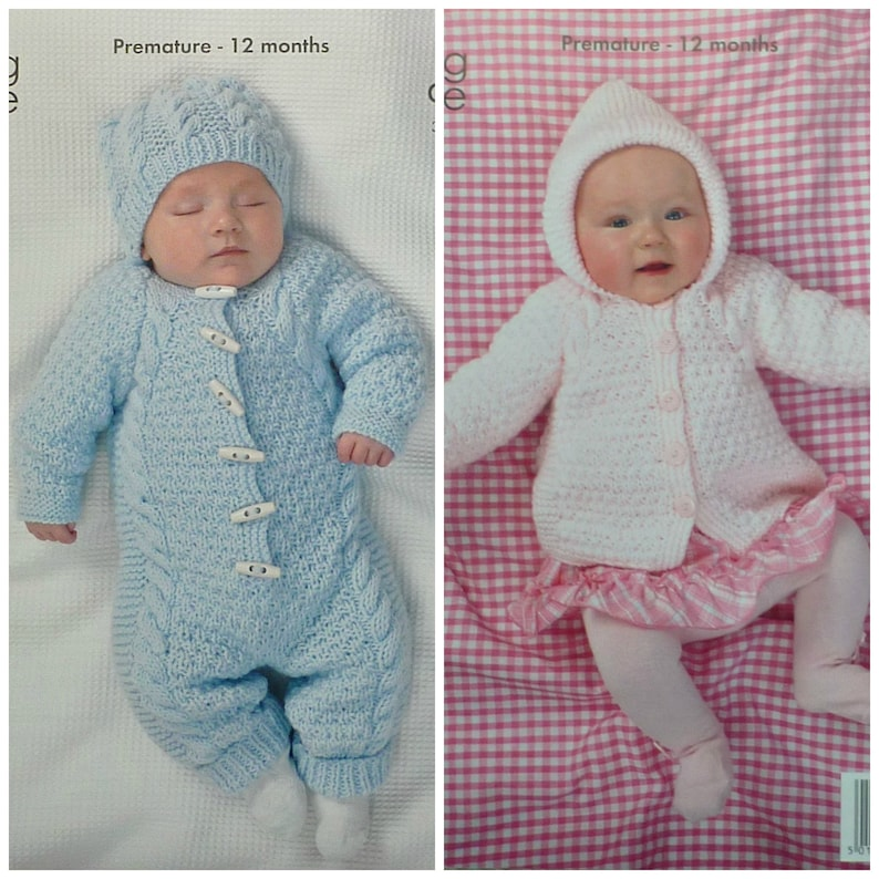 ef94d1c84 Baby Knitting Pattern K3504 Babies Onesie All in One Hat and