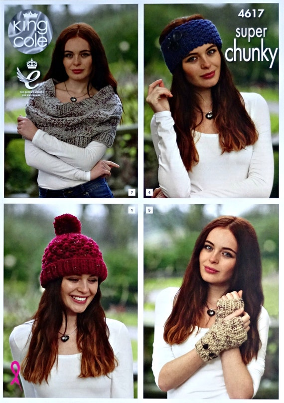 Womens Knitting Pattern K4617 Ladies Lace Shawl Headband  a8d0cdc9166
