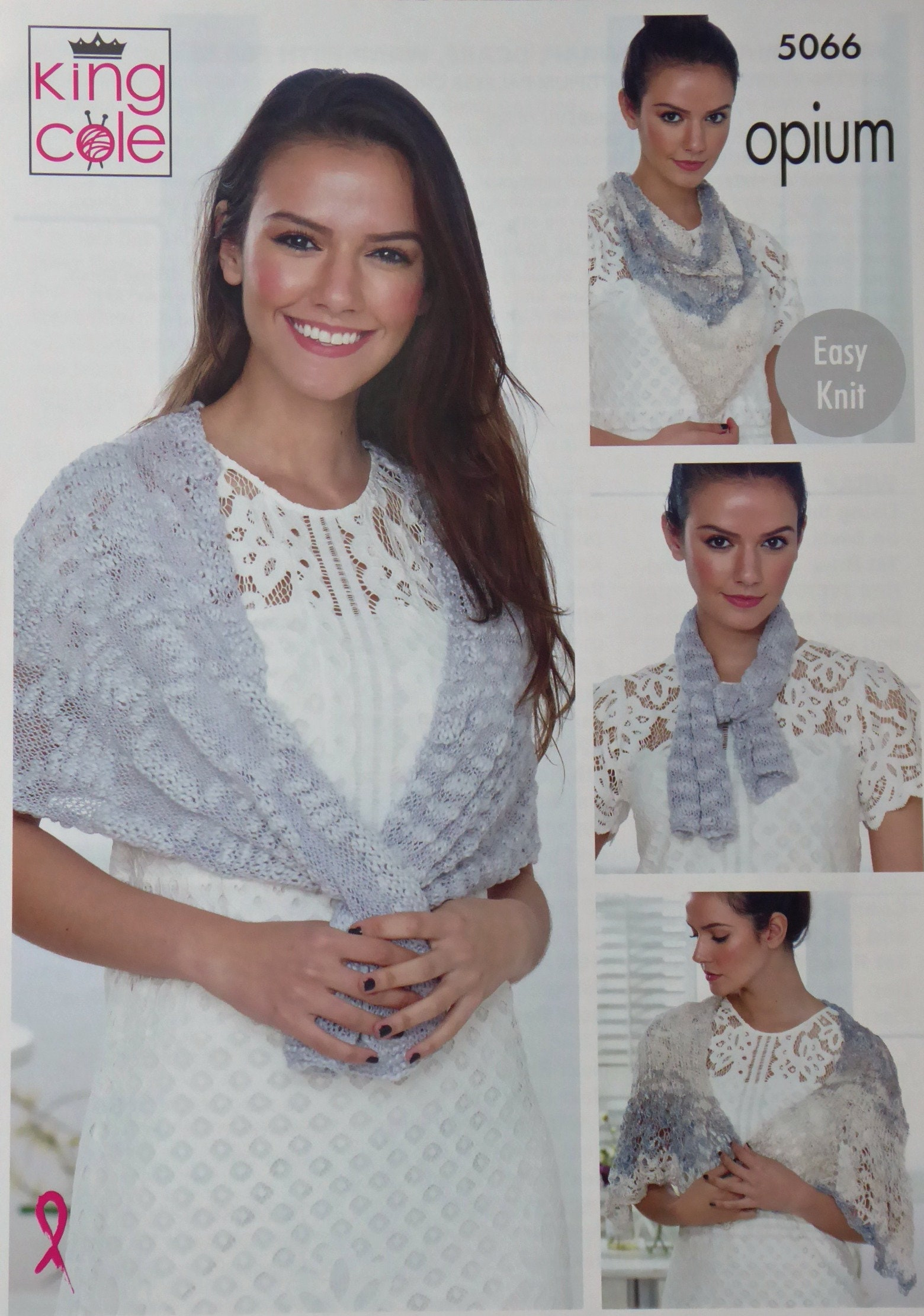 Womens Knitting Pattern K5066 Ladies Easy Knit Wraps And Scarf
