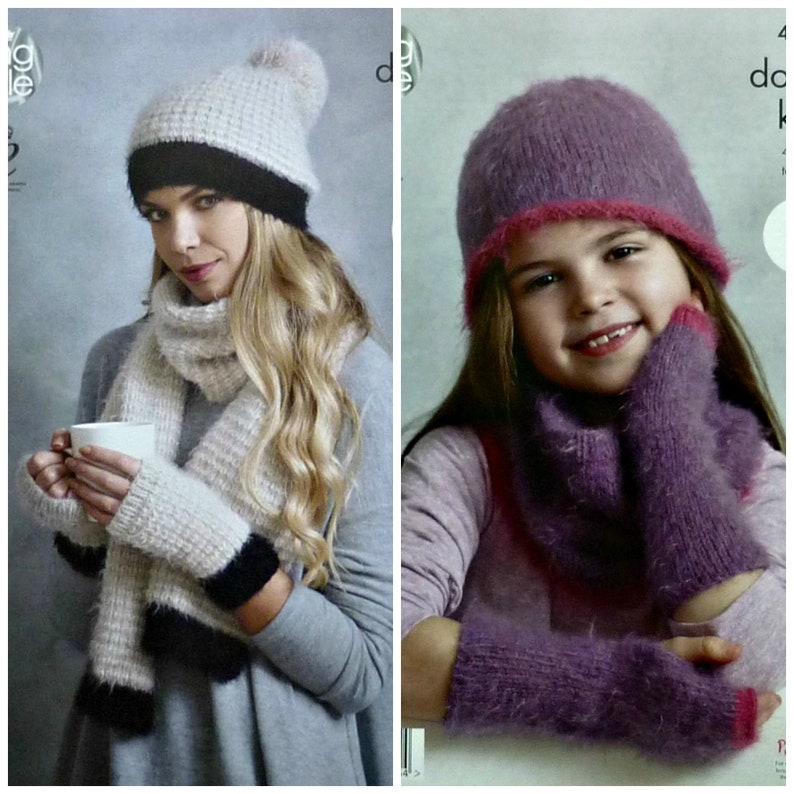42a367cbc16 Womens Knitting Pattern K4592 Ladies Girls Easy Knit Hat
