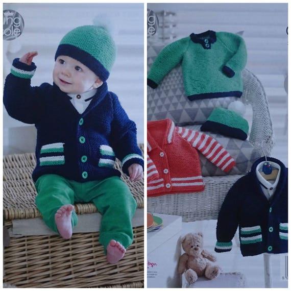 7bfa0d0c0 Baby Knitting Pattern K4948 Babies Easy Knit Jackets Jumper